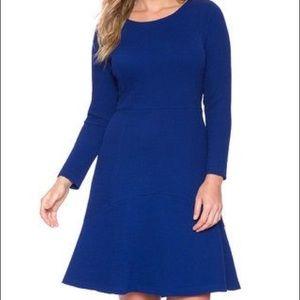 Eloquii royal blue flounce hem dress